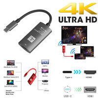 USB-C Type-C to HDMI 4K HDTV Cable Adapter for Samsung Galaxy S9/S8 MacBook Pro