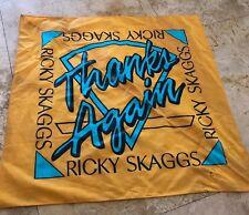 Ricky Skaggs Thank You Bandana Écharpe Vintage Artisanat Facecover