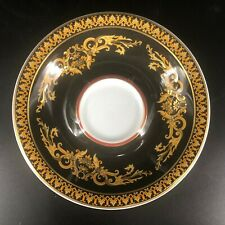 "Rosenthal Versace Medusa Black Saucer 4 3/4"" Diameter (Saucer Only)"