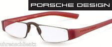 Porsche Design P 8801 B rot Lesebrille +1,0 NEU +1,00 Halbbrille Nahbrille