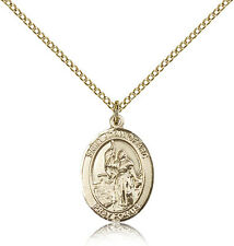 """Saint Joan Of Arc Medal For Women - Gold Filled Necklace On 18"""" Chain - 30 Da..."""
