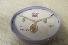 "Disney Winnie the Pooh 6"" Bracelet and Charms  New in Tin"