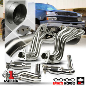 SS Long Tube Exhaust Header Manifold+Y-Pipe for 99-05 Silverado/Sierra 4.8/5.3