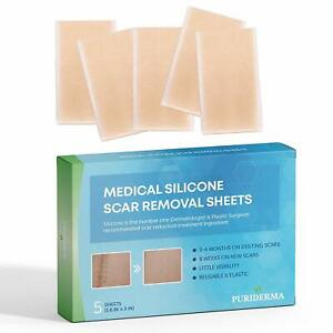 Silicone Scar Removal Sheets [Set of 5] - Fast & Effective on C-Section Scars