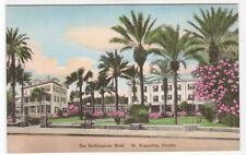 Buckingham Hotel St Augustine Florida hand colored #2 postcard