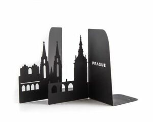 My favorite city - Prague - gift steel bookends - 7x4.5x3.5 in (18x11.5x9 cm)