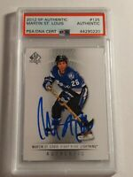2012 SP Authentic Martin St. Louis PSA/DNA authenticated Auto MINT