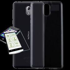 Silikoncase Transparent Tasche + 0,3 H9 2.5 Glas für Nokia 3.1 2018 Hülle Cover
