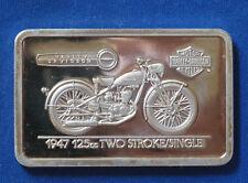 1947 125cc Two Stroke Harley Davidson Silver Art Bar B5755