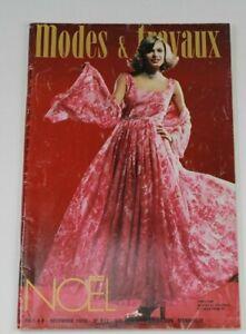 Modes & Travaux Vintage French Fashion Sewing Knitting Magazine December 1976