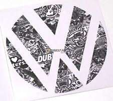 Emblem Ecken Stickerbomb sw/ws hinten VW Golf 6 VI GTI GTD R Turbo Logo Folie