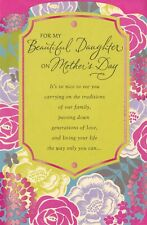 American Greetings Mother's Day Card: Daughter...Living Your Life Beautifully...