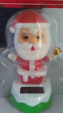 Solar Power Dancing Blinking Christmas Santa on Chimney Holiday Home Decor Toy
