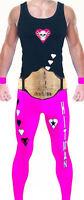 Wrestling Theme Bret Hart Style Mens Fancy Dress Costume Party Hitman WWF WWE