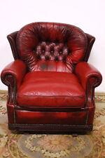 Poltrona sedia modello Chester con dondolo originale inglese bordeaux vintage
