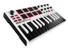 Akai MPK Mini mkII 25-Key USB MIDI/Pad Controller Keyboard WHITE with BLACK KEYS
