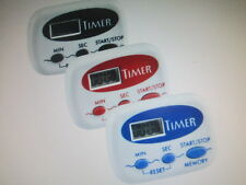 DIGITAL KITCHEN TIMERS ASSORTED COLORS PLASTIC MATERIAL 99.9 M/C DOWN LOT OF 3
