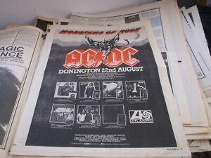 ACDC MONSTERS OF ROCK COLLECTORS ITEM/ POSTER 1981  FRAMING