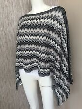 MISSONI SIGNATURE ZIGZAG KNITTED PONCHO KAFTAN SCARF MADE IN ITALY