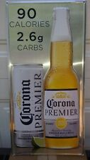Corona Beer Premier metal tin sign New bottle and can