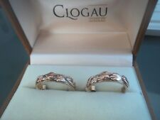 Clogau Welsh 9ct Gold Tree Of Life Half Hoop Earrings  -  Rose & Yellow Gold
