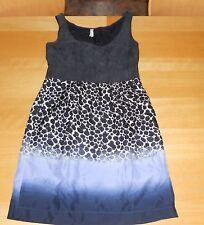 MAEVE ANTHROPOLOGIE PURPLE BLUE ZEN PRINT 100% silk TANK SHIFT SUN DRESS S