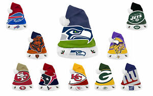 NFL Team Logo Christmas Holiday Tailgate Party Santa Hat Cap All Teams SF 49ers