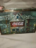 Coca-Cola beautiful home Trinket Box Beveled Glass Sides Mirrored Bottom 1997