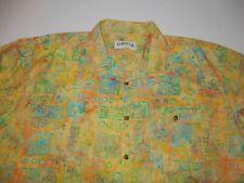 Orvis Men's Short Sleeve Button Front Shirt Size XL Hawaiian