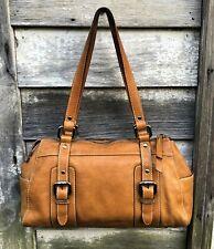 Vintage FOSSIL Golden Tan/Brown DISTRESSED Look Leather Shoulder Bag M/L (Offer)