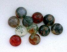 10 - 6mm Round Red Green  Moss Agate Cabochon Gem Stone Gemstone mac8