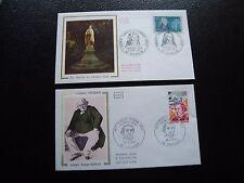 FRANCE - 2 envelopes 1st day 1973 (renan/ste-thérèse of) (cy93) french