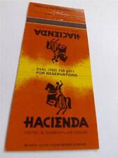 HACIENDA HOTEL CASINO FIRST ON STRIP LAS VEGAS NV VINTAGE MATCHBOOK