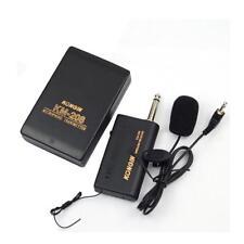 Wireless Lavalier Lapel système de microphone Mic FM Emetteur Récepteur