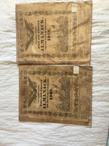 HAGERS-TOWN TOWN AND COUNTRY ALMANACK or ALMANAC  1908 &1918 editions