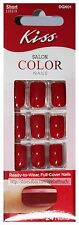 KISS 24pc SALON COLOR Ready to Wear FULL COVER NAILS Artificial *YOU CHOOSE* New