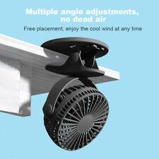 3 скоростей 2600 мА·ч Usb настольный вентилятор портативный зажим вентилятор мини-вентилятор аккумуляторная батарея