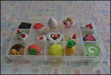 Erasers Cake Food 15 pcs in plastic box New a