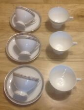 9 PIECES HEINRICH CO SELB BAVARIIA  CUPS & SAUCERS EMPIRE? PATTERN