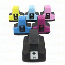 6 pack HP 02 High-Yield Ink Cartridges With Chip for PhotoSmart C6180 C6280