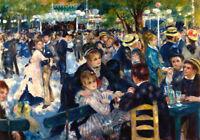Print Auguste Renoir Le Moulin de la Galette Oil Painting Printed on Canvas P827
