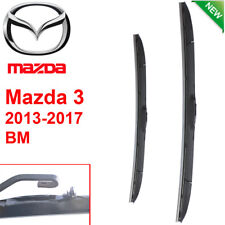 Pair Front Wndshield Windscreen Wiper blades for Mazda 3  BM 2013-2017