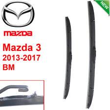 Pair Front Wndshield Windscreen Wiper blades for Mazda 3  BM 2013-2017