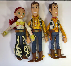 Disney Pixar Toy Story Pull String Talking Woody FOR PARTS Lot Of 3