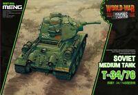 Meng WWT-006 Model T-34/76 Soviet Medium Tank (Q Edition) World War Toons Armour
