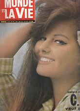 Le Monde et la Vie  Claudia Cardinale n°101 /1961