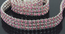 ONE YARD THREE ROW HIGH END RHINESTONE DESIGNER TRIM 3414-Z