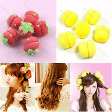 12pcs Magic Foam Strawberry Balls Soft Sponge Hair Curler Rollers Bun Round Tool