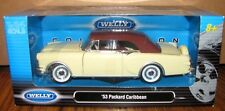 1953 PACKARD CARIBBEAN 1:24 Collector Car Welly 24016 Cream Brown Closed Top NEW