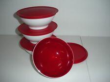 Tupperware Allegra rot Dessertschalen 4Stk.